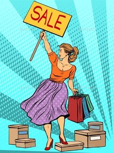 Discount Woman Sale by studiostoks Discount woman sale pop art retro style. Liberty Leading the People. The concept of business buyers and sellers Pop Art Wallpaper, Cute Girl Wallpaper, Liberty Leading The People, Desenho Pop Art, I Love My Girlfriend, Posters Vintage, Pop Art Girl, Pop Art Illustration, Latest Jewellery Trends
