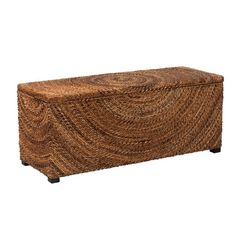 Chambers Abaca Bench Brown - East At Main Wood Storage Bench, Coffee Table With Storage, Traditional Benches, Tropical Bedrooms, California King Bedding, Thing 1, Dinning Chairs, Circle Design, Bedroom Storage