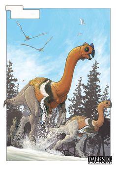Gigantoraptor by on deviantART Prehistoric World, Prehistoric Creatures, The Good Dinosaur, Dinosaur Art, Jurassic Park, Feathered Dinosaurs, Cool Dinosaurs, Historia Natural, Creature Concept Art