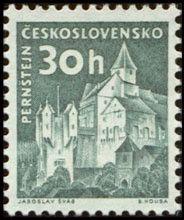 Sello: Pernštejn (Checoslovaquia) (Strongholds and Castles) Mi:CS 1300,Sn:CS 977A,Yt:CS 1183,AFA:CS 1034A,POF:CS 1205