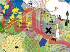 """Géographie subjective"" - Conception collaborative de cartes collectives Illustrations, Illustration Art, Map Design, Graphic Design, Atelier Theme, Architecture Mapping, Landscape Architecture, Mental Map, Map Projects"