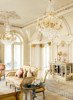 Stunning french country living room decor ideas (33)