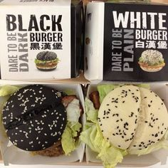Squid Ink #McDonalds #Black #Burger