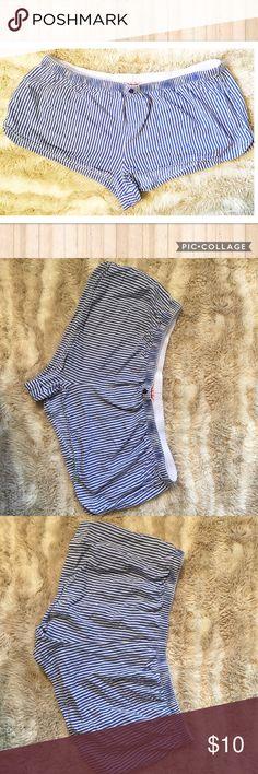 🍀5for$25☘️ Blue & White Pajama Shorts Blue and white vertical stripe elastic waist Pajama Shorts. Size XL. #blue #white #stripe #xl #pajama #lounge #shorts #elastic #punkydoodle  No modeling Smoke free home I do discount bundles Intimates & Sleepwear Pajamas