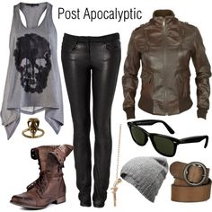 post apocalyptic my ass... I dress like this regularly.... except the boots, never worn them like that