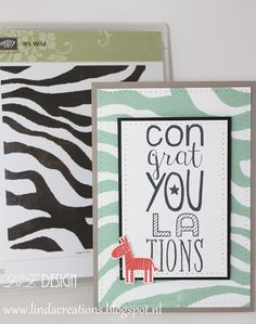LizDesign Stampin Up It's Wild Card