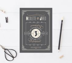 Art Deco Wedding Save the Dates Great Gatsby Save the Dates Art Deco Wedding Save The Dates, Wedding Guest Book, Save The Date Wording, Save The Date Cards, Save The Date Templates, Address Stamp, Grey And Gold, Wedding Humor, Unique Weddings