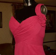 Levkoff Dress Size 18 Watermelon Prom pageant bridesmaid Mother of bride. #BillLevkoff