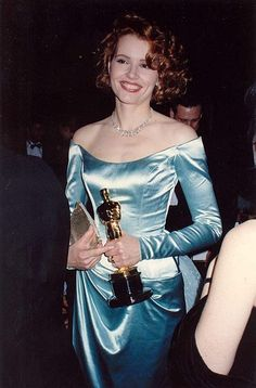 Geena Davis at the Academy Awards. Best Supp. Actress, 1998. The Accidental Tourist.  Photo by Alan Light