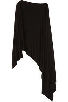 Donna KaranAsymmetric jersey cape top $895