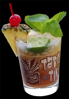 Vintage-style Mai Tai Rocks Glasses - Tiki bar called the Taboo Tiki Cocktail Lounge on Etsy, $27.00