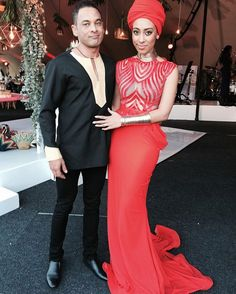 Red dress South African Traditional Dresses, African Wedding Dress, African Fashion Dresses, Formal Dresses, Wedding Dresses, Wedding Styles, Wedding Things, Red, Image