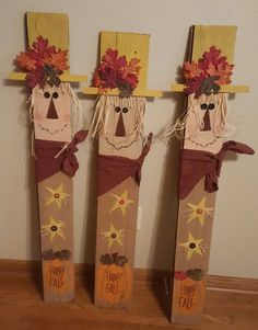 255 best Crafts - Fall images on Autumn Crafts, Thanksgiving Crafts, Holiday Crafts, Scarecrow Crafts, Fall Scarecrows, Wood Scarecrow, Primitive Scarecrows, Fall Halloween, Halloween Crafts