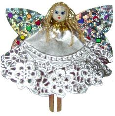 Rainbow Creations Peg Doll Angel - Kit to Make 12 Angels