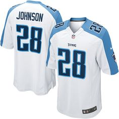 baaccf122 Chris Johnson Nike Elite Jersey – Authentic Titans  28 Light Blue ...