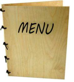 Holz Menu A4-Sperrholz/2 Menu, Menu Cards, Ply Wood, Handarbeit, Menu Board Design