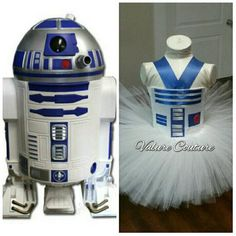 R2D2 Star Wars Inspired Tutu Dress Infant Toddler by ValureCouture Star Wars Inspired Darth Vader Chewbacca Princess Leia R2D2 BB8 by ValureCouture Storm Trooper Disney Infant Toddler Youth Newborn Baby Dance Christmas Gift Chewy Ewok Birthday Pageant Costume Halloween