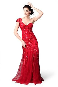 Primavera Couture 9641, Red or Champagne, Size 6, $359.10
