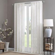 Home Essence Clarissa Diamond Sheer Window Curtain, White Sheer Curtain Panels, Rod Pocket Curtains, Window Panels, Sheer Curtains, Window Curtains, Thing 1, Thermal Curtains, Dcor Design, Bath Design