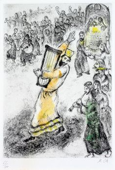Marc Chagall, Transporting the Ark to Jerusalem | by Haggerty Museum