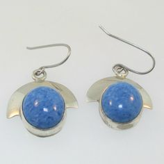 Sterling Silver Signed VHC Lapis Earrings
