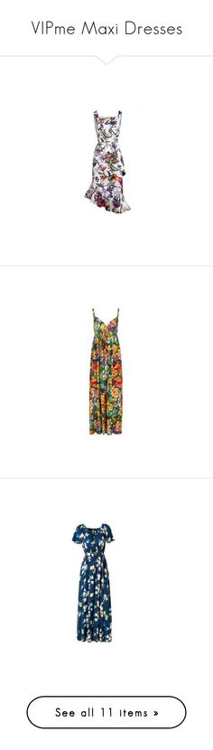 """VIPme Maxi Dresses"" by vipme ❤ liked on Polyvore featuring vipme, dresses, asymmetrical maxi dress, checkered dress, slip dress, floral print dress, floral print maxi dress, maxi dress, yellow floral dress and yellow slip dress"