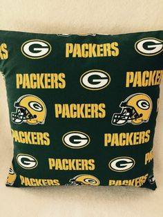 Green Bay Packers Pillow by QBsquared on Etsy
