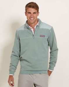 Vineyard Vines Men's Overdyed Shep Sweatshirt | Navy would be good :)