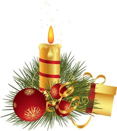 Christmas Candle Decoration Clipart