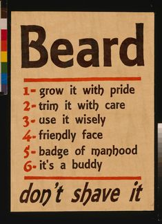 BEARD.   Trim it with care