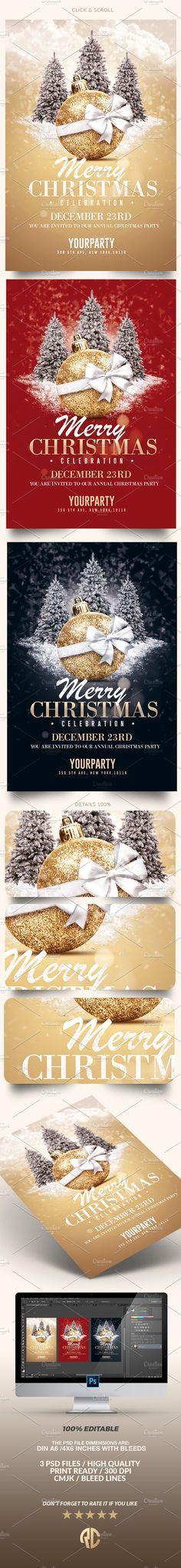 Great ! Christmas Invitation - Psd Templates  #christmas #invitation #templates #creativemarket