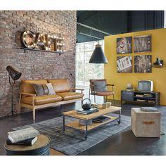 Industrieel tv-meubel van zwart metaal met 1 deur | Maisons du Monde