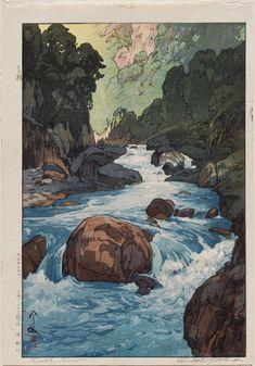 Yoshida Hiroshi: Kurobe River (Kurobegawa) - 1926