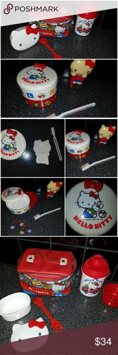 @cwalters50 Hello Kitty VINTAGE Bundle Bundle for @cwalters50  1. Hello Kitty VINTAGE Jewlery Hair Lot 2.Hello Kitty VINTAGE Lunch Set both from 1976 3. Plus two NEW Hello Kitty Gift Items Hello Kitty Accessories