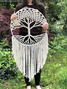 Hippie Decor / Large Tree of Life Tapestry / Living Room Decor / Macrame Wall Hanging / Housewarming decor diy projects Macrame Tree of Life Wall Art, Tree of Life Macrame Tapestry, Boho Living Room Decor Macrame Wall Hanging Diy, Macrame Art, Macrame Design, Macrame Projects, Crochet Dreamcatcher, Art Macramé, Art Mural, Image Tatoo, Tree Of Life Tapestry
