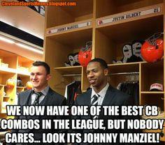 Johnny Manziel Justin Gilbert Browns Cleveland Memes Sports