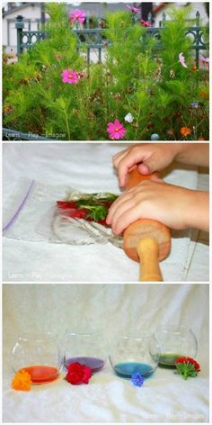How to make natural watercolor paint from fresh flowers