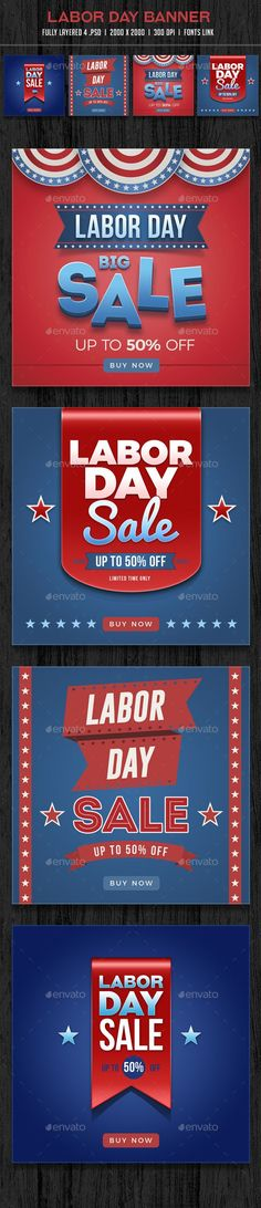 #Labor #Day #Sale #Banner #template- Banners & #Ads Web Elements #design. download: https://graphicriver.net/item/labor-day-sale-banner/20470716?ref=yinkira