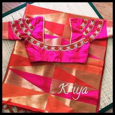 To customize, whatsapp 9043230015 for Saree, Blouse and Kurtis Patch Work Blouse Designs, Pattu Saree Blouse Designs, Simple Blouse Designs, Stylish Blouse Design, Fancy Blouse Designs, Bridal Blouse Designs, Choli Designs, Mode Bollywood, Ppr