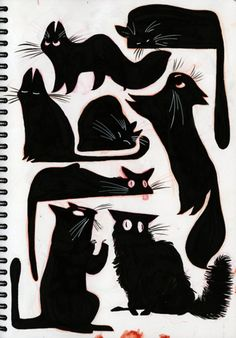 If I could draw black cats like this... it would mean a whole lot of good luck for me! :P
