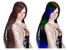 Peggy 021 and 0028 hairstyles retextured by Neiuro for Sims 3 - Sims Hairs - http://simshairs.com/peggy-021-and-0028-hairstyles-retextured-by-neiuro/