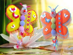 """""""Lach mit mir"""" Schmetterling - Häkelanleitung von Diana´s kleiner Häkel-Shop auf DaWanda.com"""