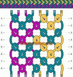 Normal friendship bracelet pattern added by mikkomix. Friendship Bracelets Tutorial, Friendship Jewelry, Thread Bracelets, Diy Bracelets Easy, Friend Bracelets, Summer Bracelets, Bracelet Crafts, Cute Bracelets, Woven Bracelets