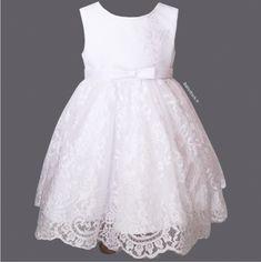 Robe baptême bébé fille blanche en dentelle résille brodée fleurs Lucie à  36 2003469d63c