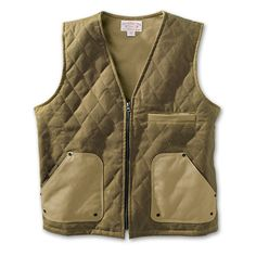 www.Filson.com | Filson Queets Quilted Vest - Extra protection, rugged layer and mobility defines this outdoor vest