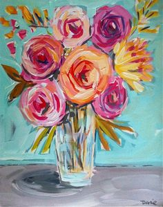1000+ ideas about Flower Painting Canvas on Pinterest | Painting ...