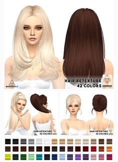 Miss Paraply: Hair retexture – Skysims hairstyles • Sims 4 Downloads