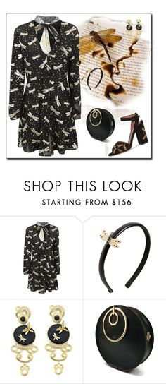 """Dragonfly Dreams"" by yvonnewarren ❤ liked on Polyvore featuring RED Valentino, Misis, Angela Valentine Handbags and Tabitha Simmons"