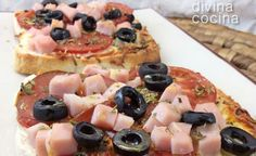 Prueba esta deliciosa y sencillas mini pizzas en pan de molde