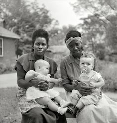 "John F. Vachon (May 19, 1914 – April 20, 1975): 1951, somewhere in the Southeast. ""Negro maids and their white employers' babies."""